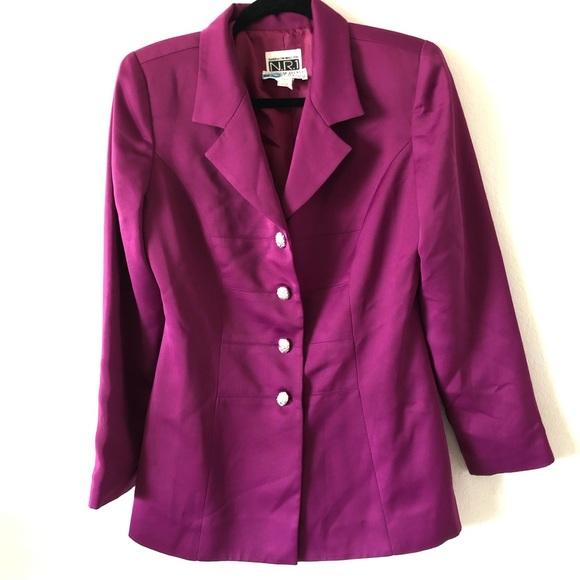 Saks Fifth Avenue Jackets & Blazers - Saks Fifth Avenue Folio Purple Blazer